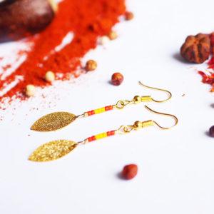 Gebetnout bijoux fantaisie lyon mode tendance bijouterie femme Annecy artisan Licancabur miyuki rouge jaune dore