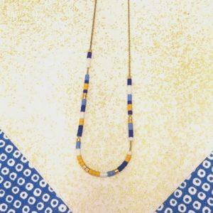 Gebetnout bijoux fantaisie lyon mode tendance bijouterie femme Oullins artisan collier miyuki bleu délicat