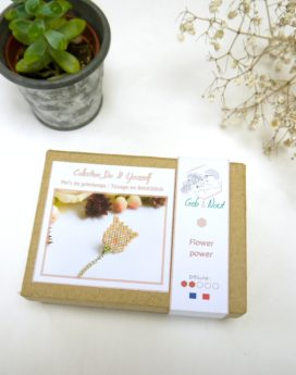 Gebetnout bijoux fantaisie lyon mode tendance bijouterie femme Oullins artisan kit diy miyuki fleur