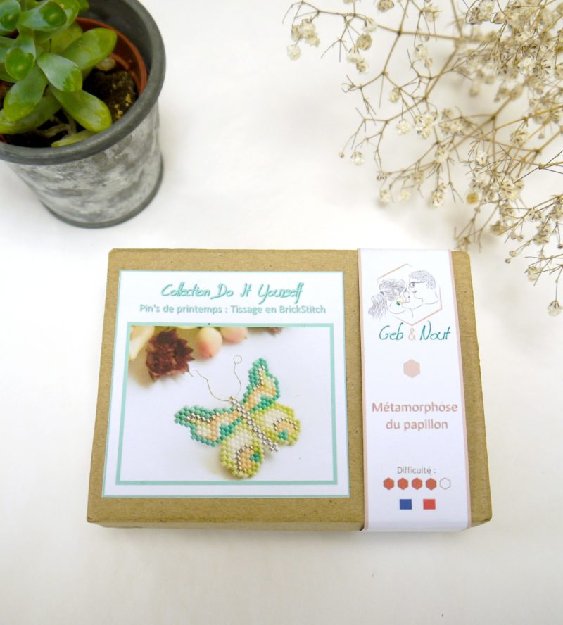 Gebetnout bijoux fantaisie lyon mode tendance bijouterie femme Oullins artisan kit diy miyuki papillon