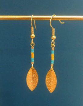 Gebetnout bijoux fantaisie lyon mode tendance bijouterie femme Oullins artisan miyuki turquoise jaune doré