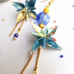 Gebetnout bijoux fantaisie lyon mode tendance bijouterie femme Oullins artisan origami fleur cerisier japonais