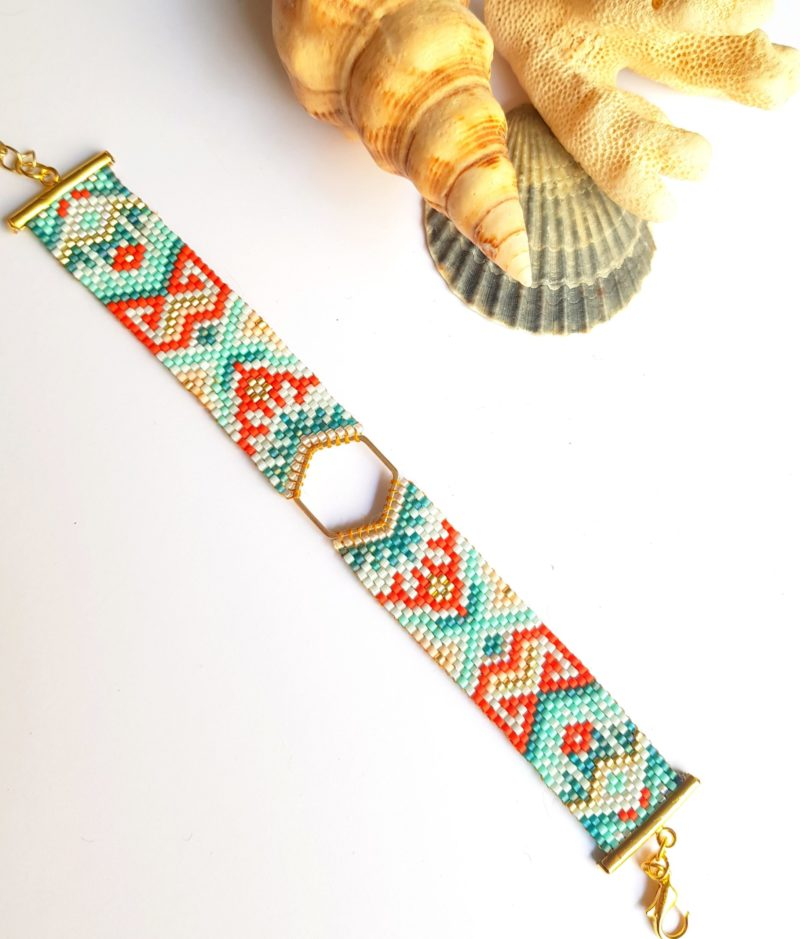 Gebetnout bijoux fantaisie lyon mode tendance bijouterie femme Oullins artisan bracelet miyuki hexagone endeavour