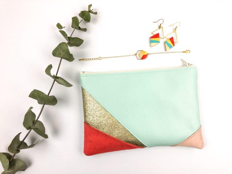 Gebetnout bijoux fantaisie lyon mode tendance bijouterie femme Oullins artisan collaboration thealouise pochette corail