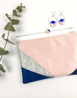 Gebetnout bijoux fantaisie lyon mode tendance bijouterie femme Oullins artisan collaboration thealouise pochette marine