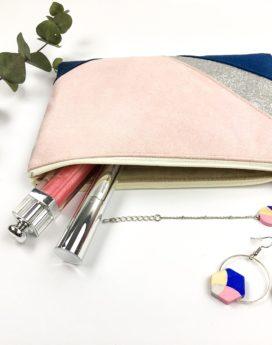 Gebetnout bijoux fantaisie lyon mode tendance bijouterie femme Oullins artisancollaboration thealouise pochette marine maquillage