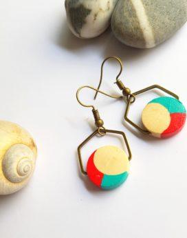 Gebetnout bijoux fantaisie lyon mode tendance bijouterie femme Oullins artisan endeavour bois corail turquoise hexagone
