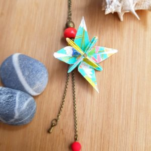 Gebetnout bijoux fantaisie lyon mode tendance bijouterie femme Oullins artisan endeavour collier origami fleur