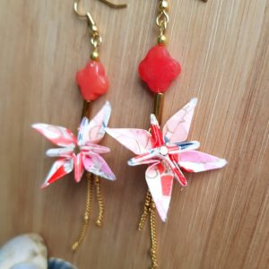 Gebetnout bijoux fantaisie lyon mode tendance bijouterie femme Oullins artisan endeavour fleur oranger corail