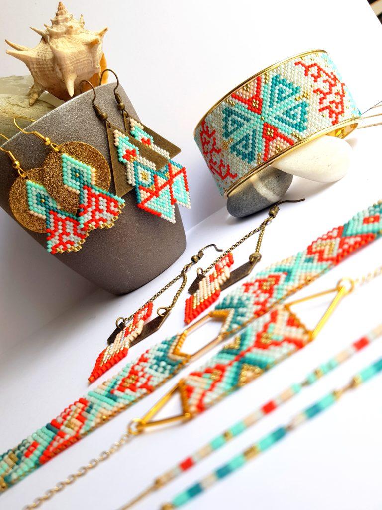 Gebetnout bijoux fantaisie lyon mode tendance bijouterie femme Oullins artisan endeavour miyuki corail
