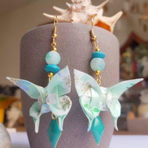 Gebetnout bijoux fantaisie lyon mode tendance bijouterie femme Oullins artisan origami papillon endeavour