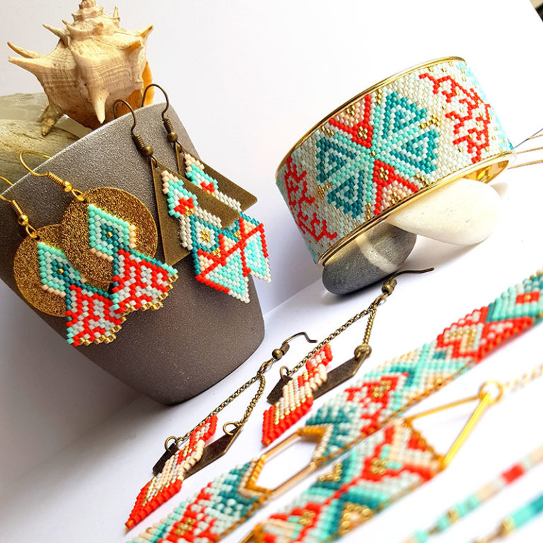 Gebetnout bijoux fantaisie lyon mode tendance bijouterie femme annecy artisan endeavour miyuki corail