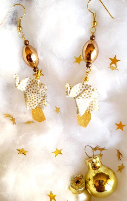 Gebetnout bijoux fantaisie lyon mode tendance bijouterie femme Oullins artisan milky way origami éléphant doré