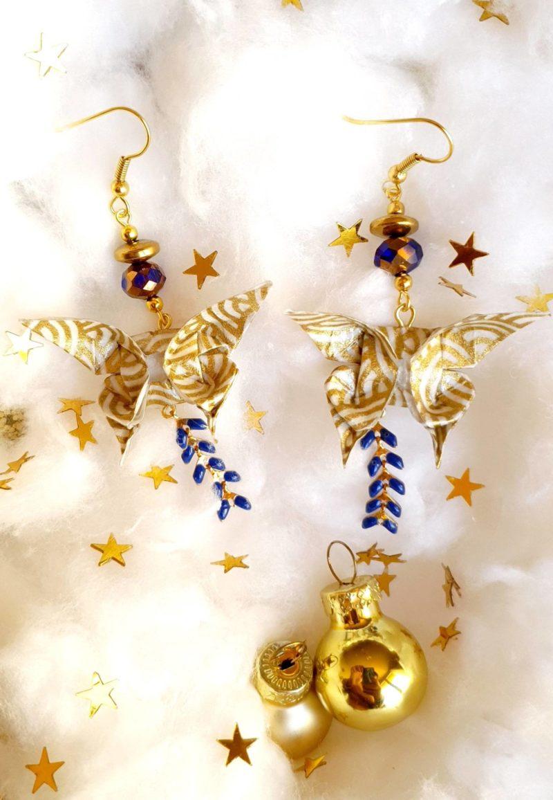 Gebetnout bijoux fantaisie lyon mode tendance bijouterie femme Oullins artisan milky way origami papillon doré