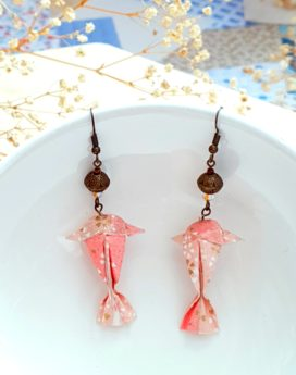 Gebetnout bijoux fantaisie lyon mode tendance bijouterie femme annecy artisan origami carpe rose swarovski
