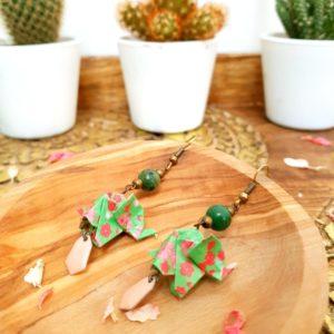 Gebetnout bijoux fantaisie lyon mode tendance bijouterie femme Annecy artisan Incahuasi origami éléphant vert