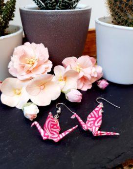 Gebetnout bijoux fantaisie lyon mode tendance bijouterie femme Annecy artisan Incahuasi origami grue rose swarovski