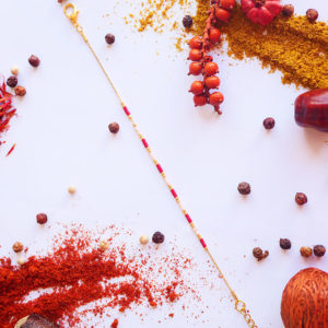 Gebetnout bijoux fantaisie lyon mode tendance bijouterie femme Annecy artisan Licancabur bracelet miyuki rouge rose dore