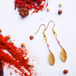 Gebetnout bijoux fantaisie lyon mode tendance bijouterie femme Annecy artisan Licancabur miyuki rose chair doré