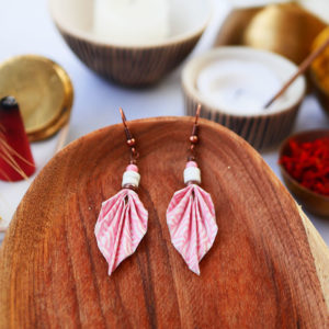 Gebetnout bijoux fantaisie lyon mode tendance bijouterie femme Annecy artisan watthanaram ayutthaya origami feuille magnesite rose cuivre