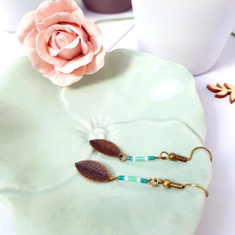 Gebetnout bijoux fantaisie Lyon mode tendance bijouterie femme Annecy artisan Incahuasi pétale miyuki rose argent