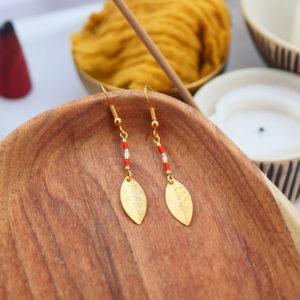 Gebetnout bijoux fantaisie lyon mode tendance bijouterie femme Annecy artisan watthanaram ayutthaya miyuki geometrie petale corail dore