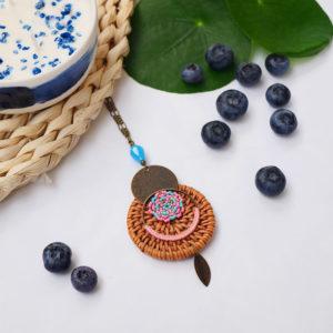 Gebetnout bijoux fantaisie lyon mode tendance bijouterie femme annecy seyssel artisan collier sautoir miyuki rotin rose bleu bronze
