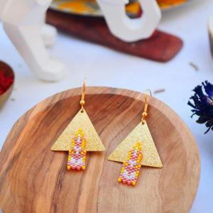 Gebetnout bijoux fantaisie lyon mode tendance bijouterie femme Annecy artisan watthanaram ayutthaya miyuki geometrie saumon jaune dore stupa